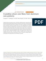 Crystalline Silicon Core Fibres From Aluminium Core Preforms