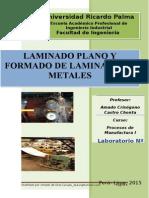 Laboratorio 07 Laminado y Conformado de Metales
