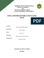 Densidad Poblacional Del Maiz - Mario Astudillo 1 AGRO