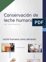 "Conservaciã""n de Leche Humana"
