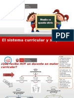 Reforma y Sistema Curricular
