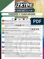 Tarjeta de Poderes y Habilidades 2014 Heroclix
