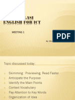 English for ICT - Meeting 1
