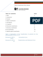 Amended Patient Classification Policy Manual