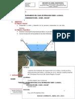 Informe Canal Trapezoidal 2013