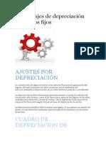 Porcentajes de Depreciación de Activos Fijos en Bolivia