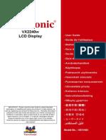 Viewsonic VX2240w User Guide English