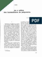 Fenomenologia e Crítica Dos Fundamentos Da Psiquiatria - LANTERI-LAURA (1983)