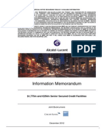 Alcatel Lucent Information Memorandum