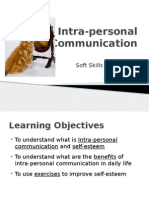 Soft Skills - Session 1 (Intra-personal Communication)