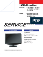 Samsung LCD Monitor 2032BW 2232BW 2232GW Plus Parts and Service Manual