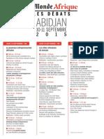 Le Monde Afrique - Les Débats 2015