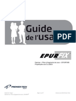 Guide Utilisation EPURFIX 5 a 20 EH