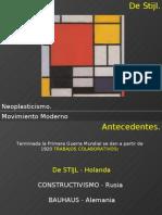 Neoplasticismo. Movimiento Moderno