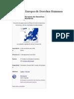 Convencion Europea Derechos Humanos