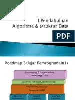 Algoritma & struktur data (pendahuluan)