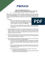 Petunjuk Teknis Peraturan Peradi No 1 Tahun 2006