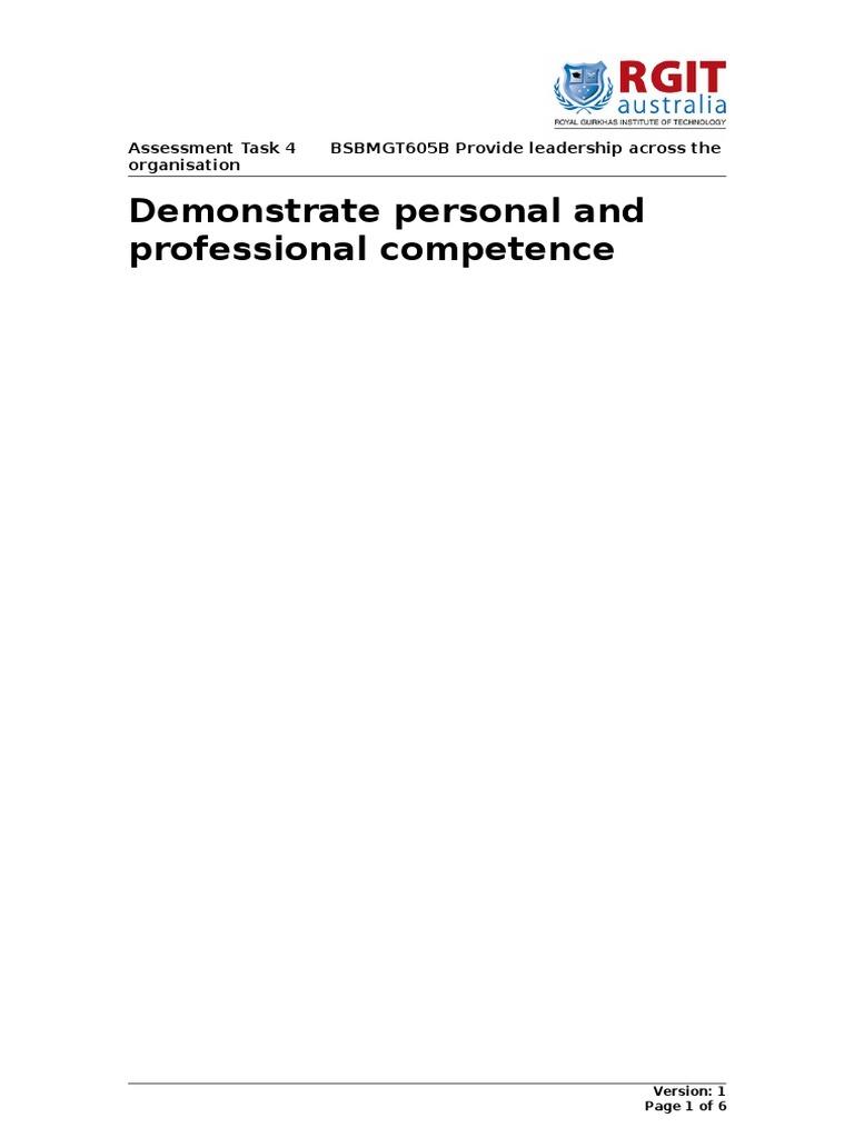 bsbmgt605 assessment 1