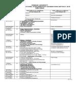 OU Degree I II III Year Supply Exam Time Table 2015