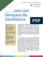 Examen de Lámpara de Hendidura