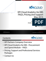 KPI Cloud Analytics for EBS - Proc and Spend - FAQs Pricing and Support - May 2015