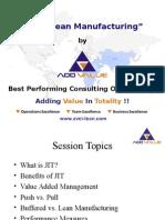 JIT & Lean Manufacturing - ADDVALUE - Nilesh Arora