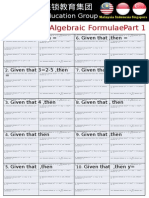 Chapter 7 Algebraic Formulae
