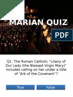 Marian Quiz