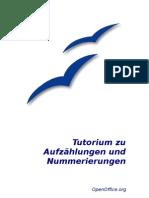 OpenOffice - Tutorium zu Aufzählungen und Nummerierungen