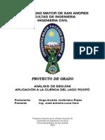Analisis de Crecidas (Aplicacion a La Cuenca Del Lago Poopo)