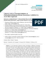 valproic acid-histone deacetylase