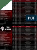 2014 Wsop Schedule