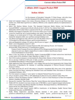 Current Affairs Pocket PDF - August 2015 by AffairsCloud