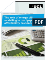 The Role of Energy Bill Modelling in Mortgage Affordability Calculations - UK-GBC and UCL