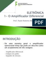 ELETRÔNICA - 1 - Amplificadores Diferenciais