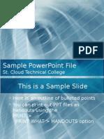 Sample Pp TX