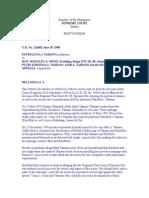 Tamano v Ortiz Et Al, GR No 126603, 06-29-1998 - Copy