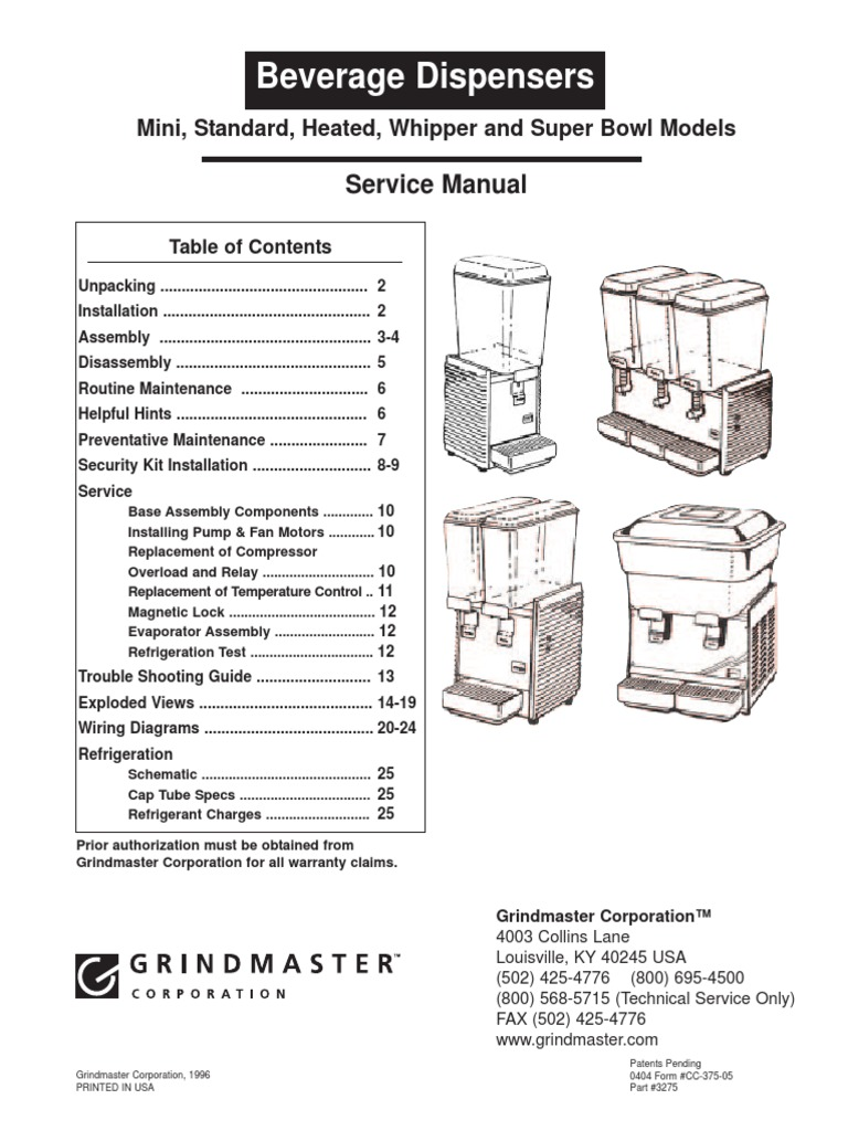 Premix Manual Cc 375 05 Washing Machine Refrigeration Plants Wiring Diagrams