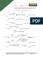 Problemas de Reforzamiento Para El Final de Cálculo i