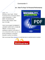 Invisibility Levitation How to Keys Commande 39791832