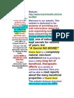 Humichealth.info -01.0 Homepage - Health-Giving Effects of Humic Acid