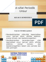 Sifat-sifat Periodik Unsur