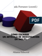 Cómo Escribir Un Artículo de Investigación en Inglés - Fortanet, Inmaculada (Coord.)
