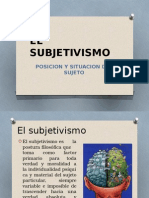El Subjetivismo