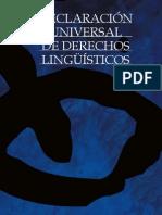 Declaración Universal de Los Derechos Linguisticos