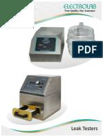 Catalogue of Leak Test Apparatus