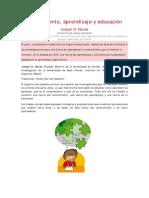 Novak, J.D. - Conocimiento, Aprendizaje y Educación