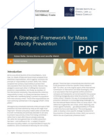 Reike Sharma and Welsh - Strategic Framework for Mass Atrocity Prevention