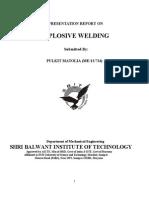 Report on Explosion Welding