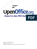 OpenOffice - Export in das PDF-Dateiformat